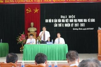 Chi hội Di sản Văn hoá Việt Nam VQG Phong Nha – Kẻ Bàng: Tổ chức thành công Đại hội lần thứ II, nhiệm kỳ 2017 – 2022